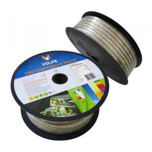 Светодиодная влаг-ая лента Volpe ULS-Q325 2835-60LED/m-10mm-IP67-220V-6W/m-25M-WW