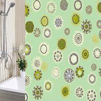 Штора для ванны 180*180 ПВД одуванчики зеленые