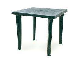 Стол пластиковый квадрат темно-зеленый (МТ008)