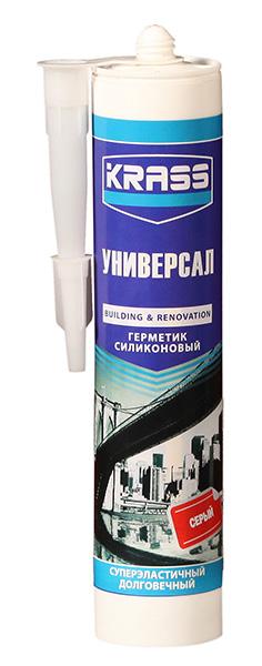 Герметик KRASS силикон универсальный серый 300 мл
