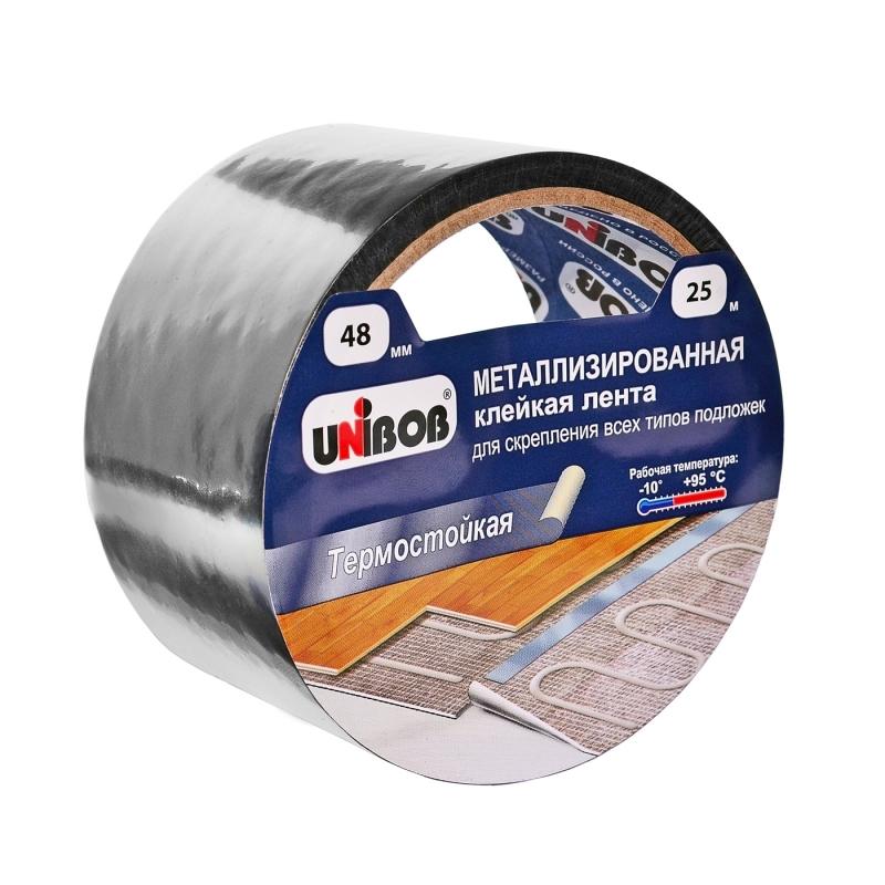 Скотч металлизированный UNIBOB д/подложек 48х25м