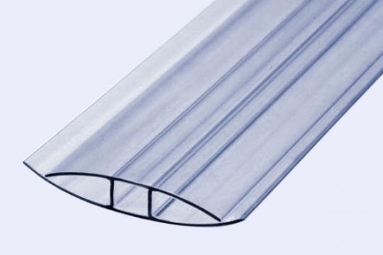 Профиль прозрачный НР 8 мм, 6 м Polygal (неразъемный профиль)