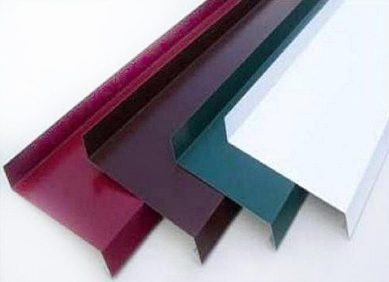Отлив цветной гладкий 2000х120 мм (коричневый)