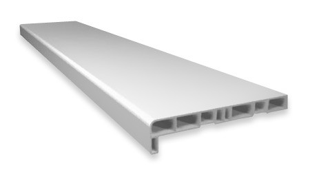 Подоконник ПВХ белый 450 мм