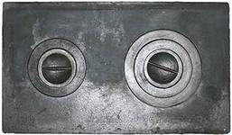 Плита чугунная 2-х конфорочная П2-3 710х410х10мм Балезино