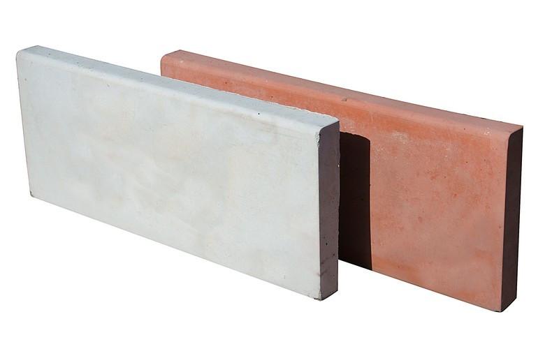 Бордюр тротуарный 500х200х35 мм красный вес 6,8 кг