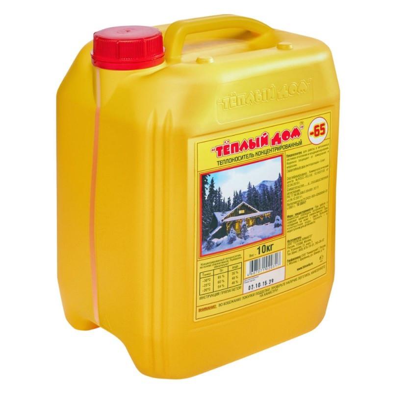 Жидкость для систем отопления Теплый дом 10кг -65*