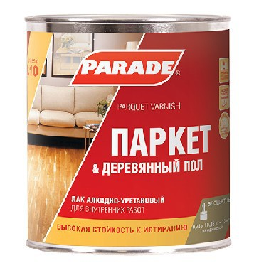 Лак паркетный PARADE алкидно-уретановый матовый 2,5 л L10