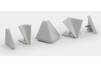 Комплект фурнитуры для столешниц белый (1внутр.угол+2загл.)