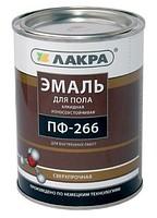 Эмаль ПФ-266 для пола красно-коричневый 1 кг (Лакра Синтез)