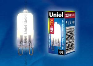 Лампа галоген.JCD.CL-60W.220V G9 Юниэль
