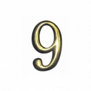 Цифра  дверная  большая №9 пласт