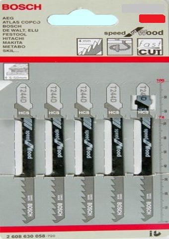 Пилки Т101ВR для лобзика по дереву 5 шт.