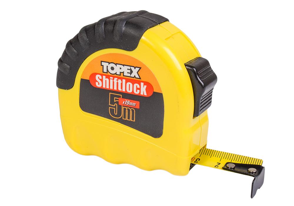 Рулетка 5м х 19мм (без магнита) TOPEX