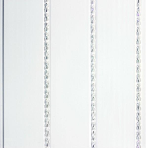 ПВХ панель 3000х240х8 Серебро кантри