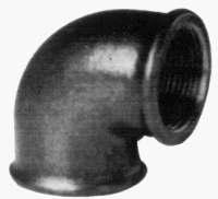 Угольник ДУ-25 черный ГОСТ 8946-75