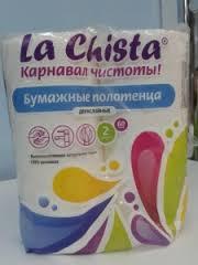 Полотенце бумаж. La Chista 2шт 60лист.