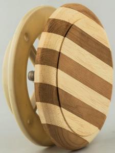 Клапан вентиляционный ф125мм древесина АБАШИ 248/125
