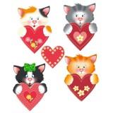 Декор 30-24D Котята с сердечками