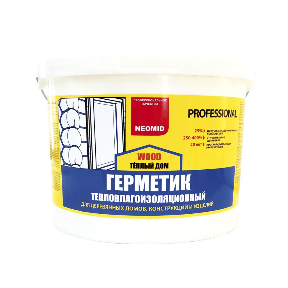 Герметик NEOMID строительный д/дерева медовый 15кг