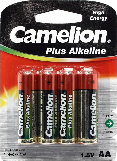 Батарейка пальчиковая Camelion Alkaline АА блистер-4 шт