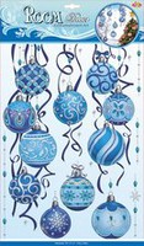 Наклейки 1003 Голубые шары