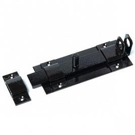 Засов плоский с проушиной ЗПП-350мм (черный) (9/594)