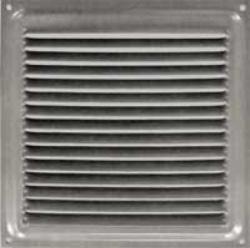 Решетка вент. 150х150 сереб, метал