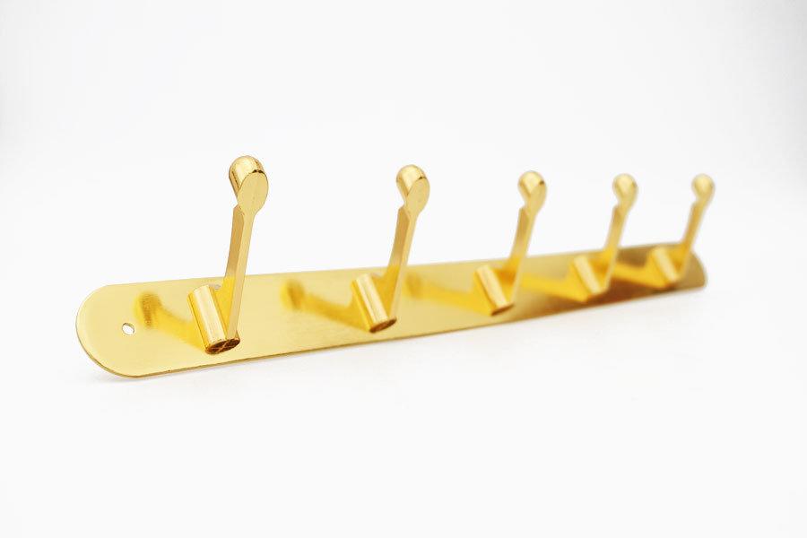 Вешалка 5 крючков золото