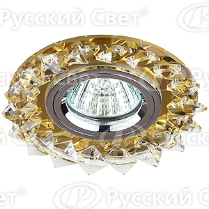 Светильник точ.ЭРА DK 44 YL/WH/CH желтый/прозр.хром.