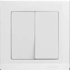 Выключатель WERKEL 2 кл .WL01-SW-2G- white Snabb бел