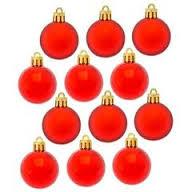 Набор шаров 12шт,4см/красный/372-281