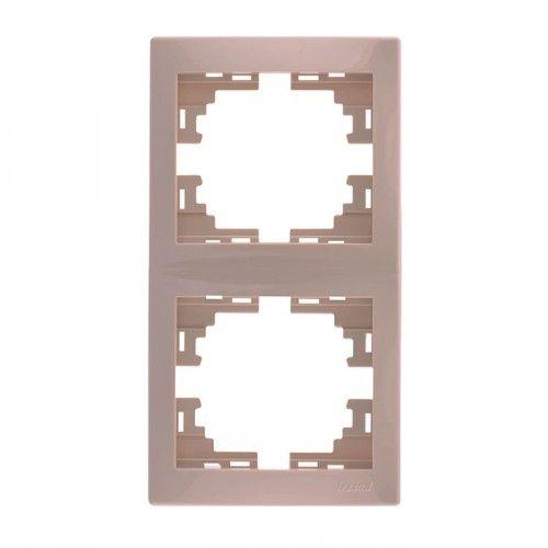 Рамка Lezard  2-я вертикальная кремовая