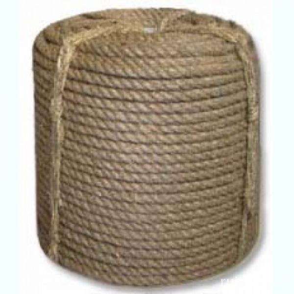 Веревка пеньковая ф 13 мм, 3-прядная