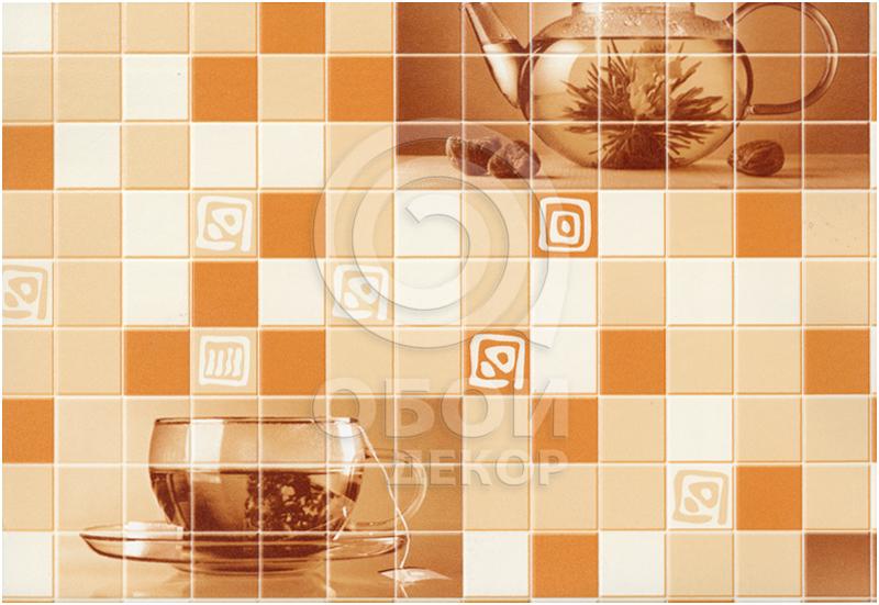 586-22605 ОБОИ 0,53*10 м  винил Чай  оранж