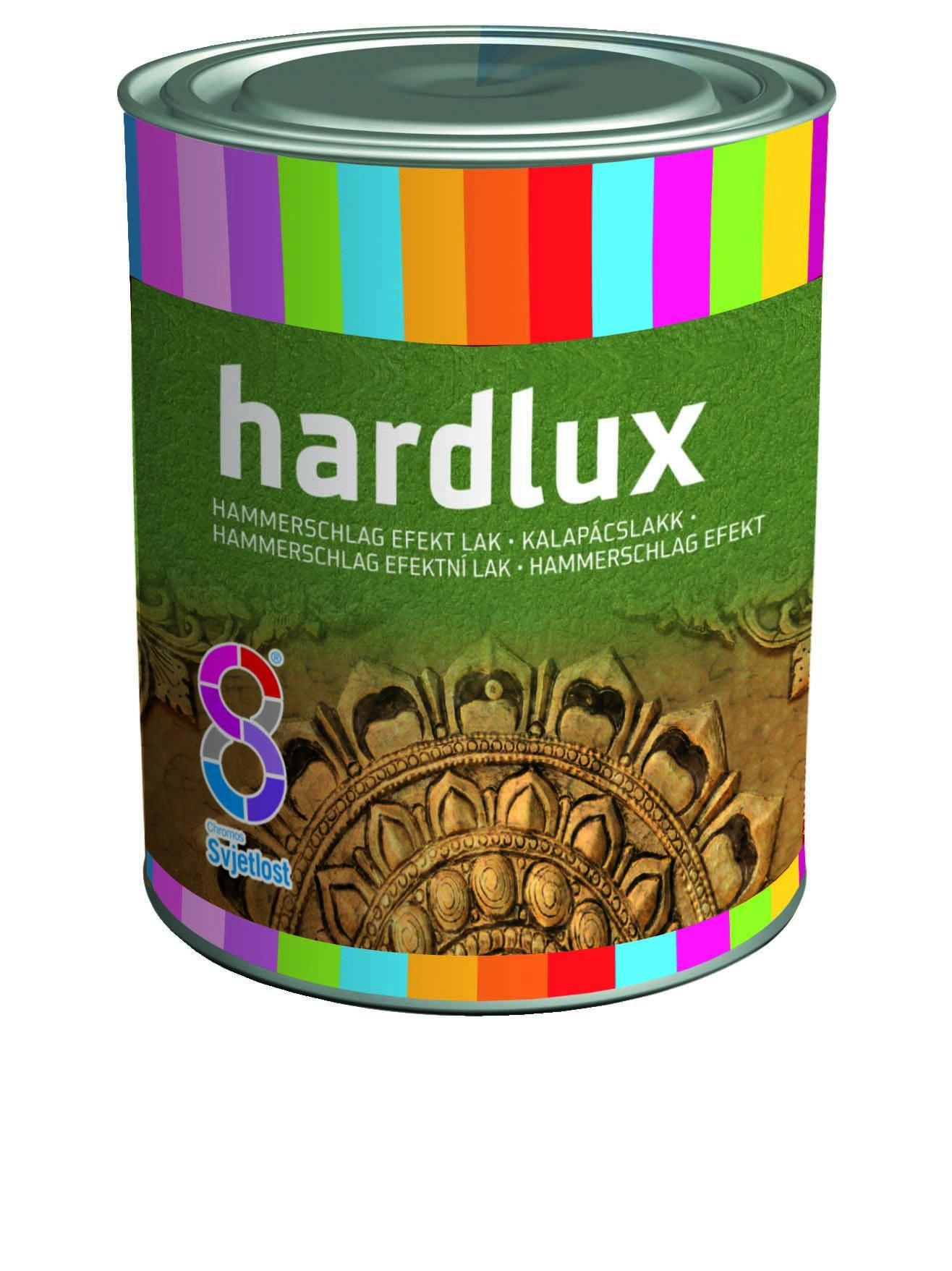 Эмаль по метал. Hardlux молотковая зеленая 0,75л