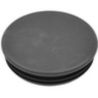 Заглушка круглая d88,9 практ. с ребрами черная