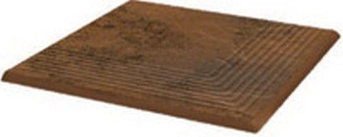 Ступень угловая структ  рифлен. Semir Beige 30*30*1.1 Польша (1400р.)