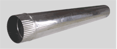 Труба-стояк для дымохода ф 150 мм оцинк.