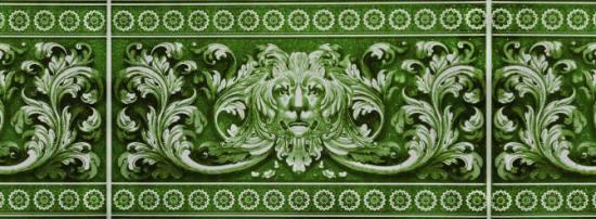 ПВХ панель  2700х250х8 Львы изумруд