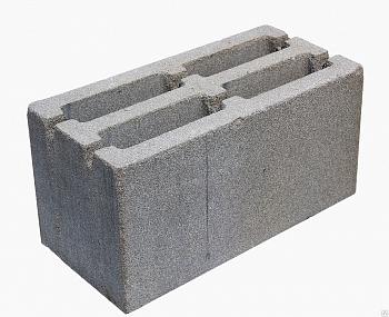 Блок пескобетон 190х190х390 мм щелевой вес.18 кг.(поддон 72шт)