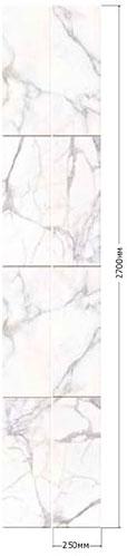 ПВХ панель  2700х250х7  Натуральный мрамор