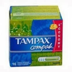 Тампоны TAMPAX с аплек компак регуляр16шт