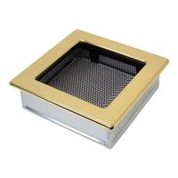 Решетка вент. для камина 170х170 мм золото
