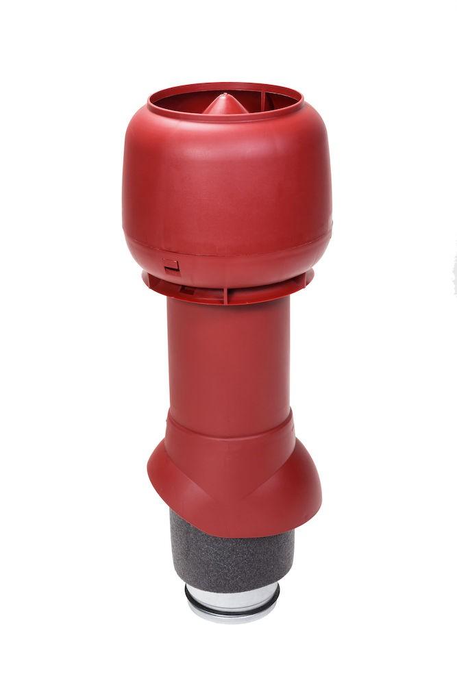 Вент. выход с колп. VILPE PIPE 125/И3/500,красный
