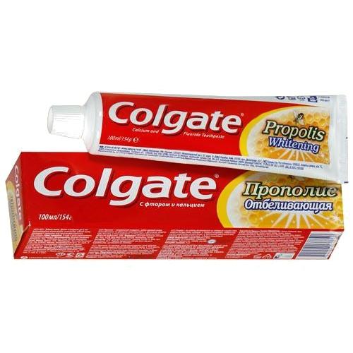 Зубная паста Колгейт Прополис отбелив. с фтор. и кальц.100мл (50р.)