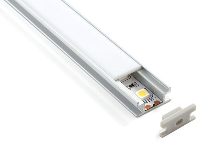 Встраиваемый напольный ал.профиль д/свет-ой ленты (8мм) LL-2ALP002