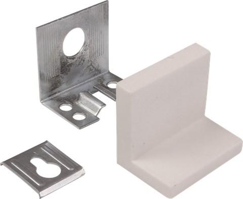 Крепежный уголок мебельный +заглушка(белый) (2шт)