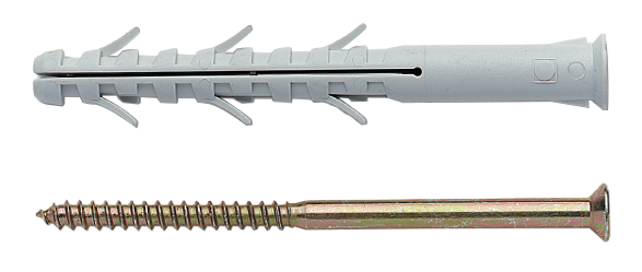 Дюбель рамный с шурупом шлиц 10х140мм (4 шт) 34330