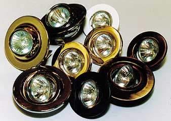 Светильник точ. Lezard R50 LD-50022-10/50 Е14 круглый,поворот.жемч.золото/хром